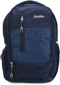 Baywatch BP04 35 Litre Unisex Casual Polyester Laptop Backpack - Grey (Navy Blue)