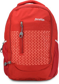 Baywatch BP04 35 Litre Unisex Casual Polyester Laptop Backpack - Grey (Red)