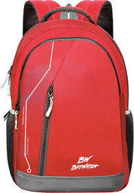 Baywatch 35 Litre Unisex Polyester Casual Laptop Backpack (Red)