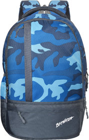 Baywatch 25 Litre Army Printed Unisex Polyester Casual Laptop Backpack (Blue)