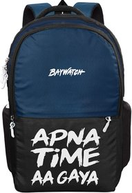 Baywatch Apna Time Aagaya 32 Litre Unisex Casual Polyester Laptop Backpack (Blue-Black)