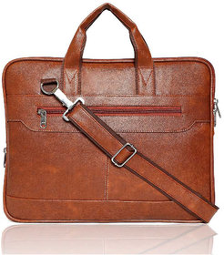 Royallite Office Laptop Bags Briefcase 15.6 Inch for Women and Men (Tan)