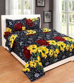 manvicreations polycotton queen size bedsheet