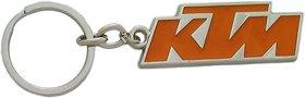 KTM Duke Bike Logo Orange  Silver Metal Keychain for Car Bike Men Women Keyring Key Chain