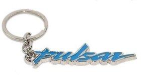 Bajaj Pulsar Bike Logo Blue Metal Key Chain  (Blue)
