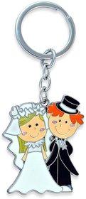 Bride Groom Wedding Romantic Newly Wed Couple Metal Keychain for Car Bike Men Women Boys Girls Keyring Key Chain