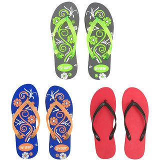 Svaar Womens Flip Flops 3 pairs pack