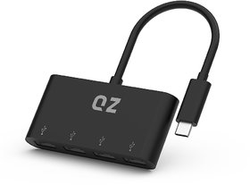 QZ USB 3.1 Type C Hub, 4 Ports 1 inch Built-in Cable
