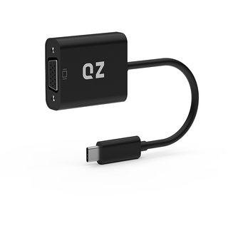 QZ USB 3.1 Type C to VGA Converter Adapter, 1920x1200 @60Hz compatible with DP Alt Mode devices only)