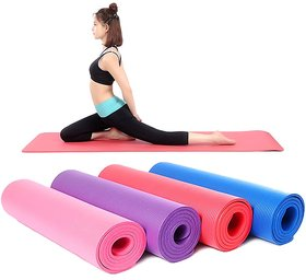 4MM Anti Skid Yoga Mat For Workout (Assorted Color)