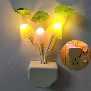 Cheapbazar Light Sensor, Automatic Off/On Colour Changing Led Mushroom Night Light Magic Lamp With Plug For Kids Bedroom