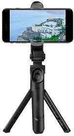 XT-02 Wireless Mini Live Broadcast Extendable Bluetooth Selfie Stick Cum Tripod for All Smartphones
