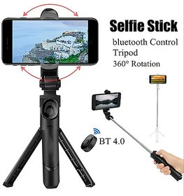 3 in 1 Extendable Selfie Stick with Detachable Bluetooth Wireless Remote Phone Holder