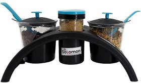 Solomon  Premium Quality Multipurpose 4 in 1 Spice Rack and Container for Kitchen