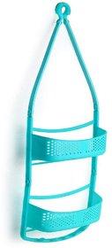 Solomon Premium Quality Bathroom Shower Caddy Hanging with Adjustable Arms Portable Organizer Basket Storage (Blue)