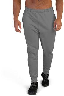Clothinkhub Dark Grey Solid Slim Fit 2 Pocket Trackpant For Men