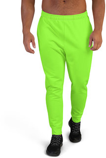 CLOTHINKHUB Neon Solid Polyester Slim Fit 2 Pocket Trackpant for Men