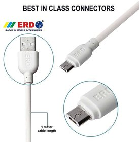 Erd Micro Usb Data Cable For Fast Charging & Data Transfer (1 Meter)