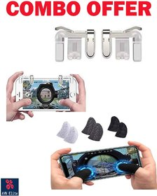 AVN Elite Metal Triggers and finger sleeve combo pack for pubg game/free fire/call of duty all types mobile games