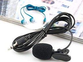 Lazywindow Collor mic + Coloured Earphone Combo