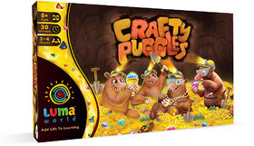Luma World Crafty Puggles STEM Educational Board Game for Kids 8+ Years to Learn Fractions, Decision Making and Strategy