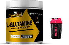 TM L- Glutamine-Speed Up Post Workout Recovery Fruit Punch Free Shaker