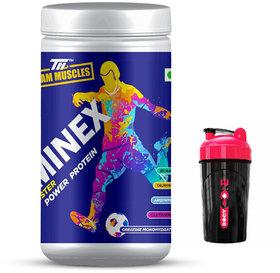 TM Staminex - Energy Booster , Power Protein Green Apple Free Shaker