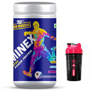 TM Staminex - Energy Booster , Power Protein Blue Raspberry Free Shaker