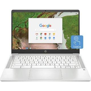 HP Chromebook 14a-na0002tu (Intel Celeron N4020/ 4GB RAM/ 64GB eMMC/ 14HD Touch Screen/ Chrome OS/ No ODD/Ceramic White