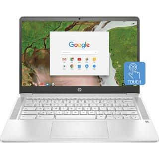 HP Chromebook 14a-na0003tu (Intel Celeron N4020/ 4GB RAM/ 64GB eMMC/ 14 Touch Screen/ Chrome OS/ No ODD/Mineral Silver)