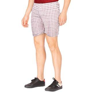 Civis Men Checked Woven Shorts