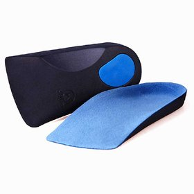 CURAFOOT Flat Foot Orthotics Arch Support Half Shoe Pad, Orthopedic Insoles Foot Care for Men and Women