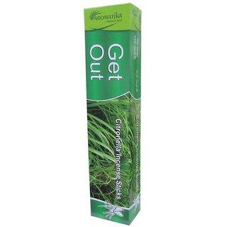 ARO VATIKA Compatible for Get Out Natural Mosquito Repellent Citronella Incense Sticks Aromatika (1 Box x 12 Pouches x 1