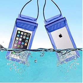 S4 Pack of 2 Waterproof Monsoon Special, Underwater Pouch Bag Cover for All Mobile Phone (Multi color, Set of 2)