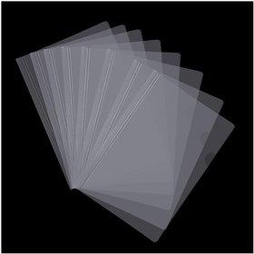 JDents Sliding Plastic Bar File Folder/ Stick File/ Strip File for A4 Paper Display (Transparent) - Pack of 10
