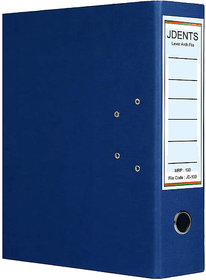 JDents Office Cardboard Lever Arch Binder Box File (Blue, Pack of 1) for Legal, Letter, A4 Size