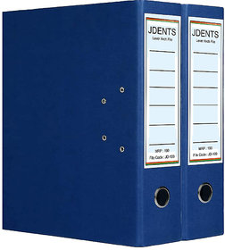 JDents Office Cardboard Lever Arch Binder Box File (Blue, Pack of 2) for Legal, Letter, A4 Size