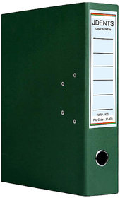 JDents Office Cardboard Lever Arch Binder Box File (Green,  Pack of 1) for Legal, Letter, A4 Size