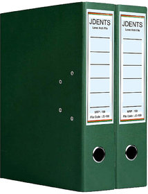 JDents Office Cardboard Lever Arch Binder Box File (Green, Pack of 2) for Legal, Letter, A4 Size