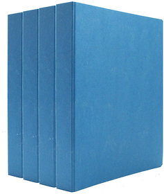 Expo Classic Office D Ring Box File, Documentation, Certificate, File Binder Office File ( Blue - A5 Size ) Pack of 4