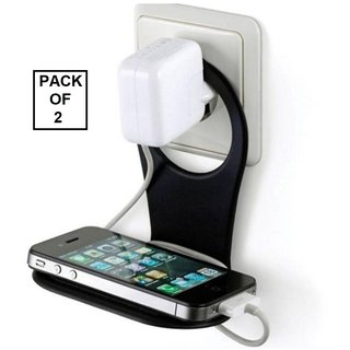 KSJ Pack of 2 Mobile Charger Stand/ Mobile Wall Holder (Assorted Colors)