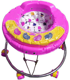 OH Baby STEEL Walker SHAP IS APPLE WALKR FRIST CLASS PLASTIC BODY  Round Base 5 Music 3 LIGHTS for 7 Months to 1.5 Year