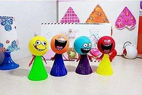 Kuhu Creations Jumping Elfins 8 pcs Cartoon Characters Baby Education Play Toy