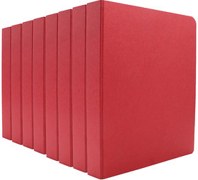 Expo Classic Office D Ring Box File, Documentation, Certificate, File Binder Office File ( Red - A5 Size ) Pack of 8