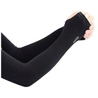 Black Let's Slim Wristlet Aqua-X Unisex Cool Arm Sleeves by PNP