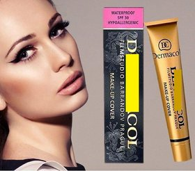 DCol foundation waterproof spf 30 make up cover 30ml -208 shade
