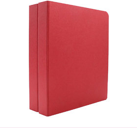 Expo Classic Office D Ring Box File, Documentation, Certificate, File Binder Office File ( Red - A5 Size ) Pack of 2