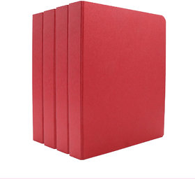 Expo Classic Office D Ring Box File, Documentation, Certificate, File Binder Office File ( Red - A5 Size ) Pack of 4