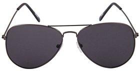 Kanny Devis ST105 Black Aviator Unisex Sunglasses (Gun Metal Frame With CR lens)