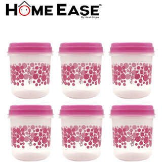 H arshpet1 litre pink container set 6